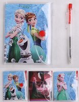 accounting quality - 10 CM High quality Frozen Book Notebook with a Pen Student Diary Frozen Elsa Frozen Anna Book Student Notepad
