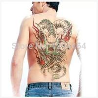 big dragon tattoos - Large Men Tattoo Dragon Tattoos Totem Waterproof Big Tatoo Sticker Mens Temporary Tatoos