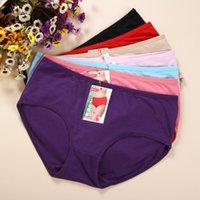 Briefs bamboo fiber - 2015 new fashion sexy women s underwear hot bamboo fiber cotton women panties ladies panties Seven colors to choose L XXL