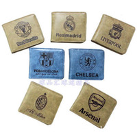 Wholesale Newest fashion sport leisure PU good quality men and women soccer team football club design wallet pouch