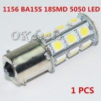Wholesale 1 V Pure White BA15S SMD LED Reverse Turn Signal Brake Tail Parking Light Lighting Bulb