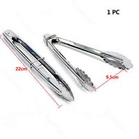 Wholesale 1Pc New Ice Tongs Scallop Food Salad Sweet Bread Cake Party Wedding Bar BBQ