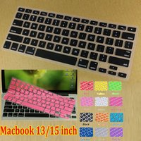 Wholesale Soft Silicone Clear Keyboard Cover Case Protector Skin Film with numeric keypad Waterproof Dustproof For Apple Macbook air Pro quot Laptop