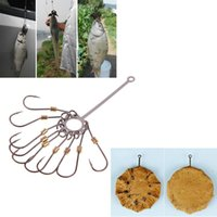 Wholesale 4pcs Carbon Steel Explosion Fishing Hook Barbed Multi Hook Plate Tackle Capture off Ability Sharp Fishhook