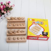 development aid - hot sale wooden toy cylinder socket baby teaching toy math development senses teaching aids