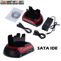 docking sata hdd docking - 2 quot quot SATA IDE Double Dock All in one HDD Docking Station e SATA Hub External Storage Enclosure Parts