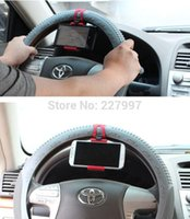 Wholesale 200pcs Universal inch Mobile Phone Car Steering Wheel Stand Holder Mount for iPhone GPS MP4 PDA