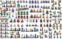 Wholesale 1660pcs Marvel Super Hero Avengers Star Wars Figures Building Blocks Minifigures Bricks