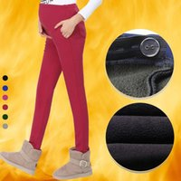 Wholesale Cotton Maternity Pants for Winter Casual Maternity Clothes for Pregnant Women Elastic High Waist Pregnancy Pants