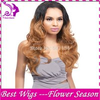 Cheap Ombre Lace Wigs Natural Black #30 Two Tone Glueless Lace Front Human Hair Wigs 130 Density 16-22 Inch Free Shipping