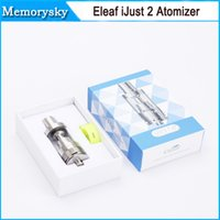 Wholesale original Eleaf iJust Atomizer vaporizer Eleaf iJust sub ohm tank with Ni coils for temp control mods eleaf ijust2 tank in stock