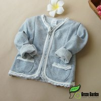 baby coat newborn - Baby Girls Cotton Coat For Autumn Hot Sale Newborn Children Solid Outwear Kids Lace Clothing Fit Age SS820