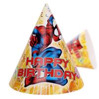 frozen party supplies - 8 Styles Frozen Spiderman Mr Minions Paper Cartoon Hats Party Supplies Children Kids Birthday Decoration Supplies Xmas Gifts Free DHL