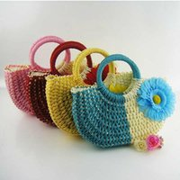 Totes straw beach bag - Sunflower Hand Knit Beach Resort Handbag New Fashion Crocheted Straw Hand Bags color to choose