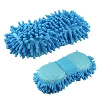 Wholesale Hot New Blue Ultrafine Fiber Chenille Anthozoan Car Wash Gloves Car Washer Supplies quality first