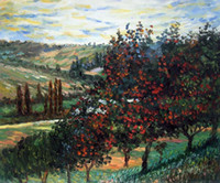 apple tree bloom - paintings by Claude Monet Apple Trees in Bloom at Vetheuil Home Decor Hand painted High quality