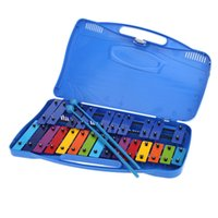 Wholesale Exquisite Percussion Toddle Kid Musical Toy Xylophone Note Flat Note Colorful Metal mm Plate with Mallets Sticks order lt no track