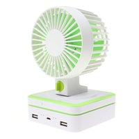 solar fan - Mini Portable Super Noisenesscool Two Set of Blades Fan with Two Switch Mode Solar Power Bank EGS_718