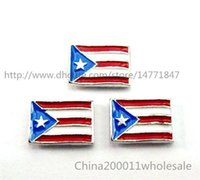 puerto rico - 10pcs Puerto Rico Flag Floating Charms FC547 mm Fit Charms Locket Memory Living Magnet Glass Floating Locket