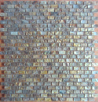 Wholesale Gold color tiles natural color MOP shell wall mosaic tiles brick tile for interior decoration