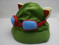 Wholesale Hot game League of Legends cosplay cap Hat Teemo hat Plush Cotton LOL plush toys Hats