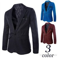 Wholesale Casual Blazer Men Fashion Plus Size Business Slim Fit Jacket Suits Masculine Blazer Coat Button Suit Men Formal Suit jacket COLOR newest