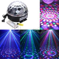 Wholesale RGB LED MP3 DJ Club Pub Disco Party Music Crystal Magic Ball Stage Effect Light With USB Disk Remote Control