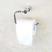 Wholesale Hot Sale All copper Chromed Toilet Paper Holder Wall Mounted Bathroom Tissue Rack Chromed Bathroom Accessories order lt no track