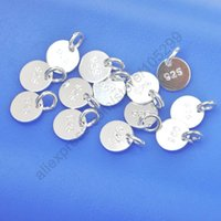 Wholesale Jewelry Findings Disk Genuine Real Pure Sterling Silver Flat Components Jump Ring For Necklaces Bracelets