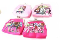 Wholesale 12pcs Monster High Coin wallets children Cartoon Coin wallets purses children s purses