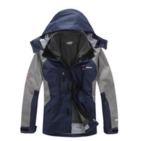 Wholesale 2016 Mens Winter Warm Outwear Outdoor Jackets Waterproof Windproof Running Hiking Ski Snowboard Coat Fleece Lined Hooded Casual Full Sleeve