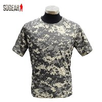 acu t shirts - Hunting Polyester Quick Dry T Shirt ACU Color Sports Breathable Sweatproof Men T Shirt For Hiking Camping Men Summer Clothes