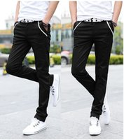 Wholesale Autumn new arrival Men s Clothing tide male slim men s Jeans Casual stretch pants feet black men s pants