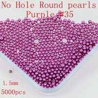 Wholesale No Hole mm Colors From No Hole Round PearlsPearls Craft Art Diy beads Nail Art Decoration