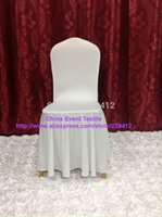 Wholesale 100pcs Extra Thicker White Elegance Skirting Chair Cover Spandex Chair Cover for Wedding Events Party Decoration