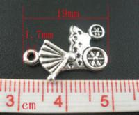 achat en gros de chariot antique-50 PCs Argent Antique Baby CarriageBuggy Charms Pendentifs 19x12mm Mr.Jewelry bijoux torche fabrication de fournitures charmes