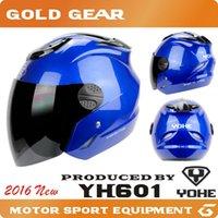 Wholesale Protective Gears Yohe motorcycle helmet half face summer motorbike capacete motoqueiro cascos para moto motocicleta Visor
