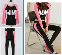 Wholesale Two Piece Girl Tracksuit Women sport suit Running Sport Track suit Piece jogging sets for yoga femme clothing