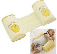 Wholesale Comfortable cotton rollover pillow cute cartoon infants and young children safe sleeping head positioning anti roll pillow baby pillow shape