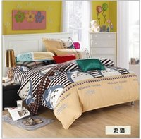 bedding set white - Home textile Cartoon My Neighbor Totoro cotton Bedding Set Reactive Print Include Duvet Cover BedSheet Pillowcase