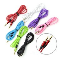 Wholesale 120cm Audio Car Aux Cable Extension mm Male stereo Auxiliary cord Jack Lead for mp3 mp4 Speaker for Iphone s s c
