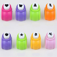 Wholesale 1 Kid Child Mini Printing Paper Hand Shaper Scrapbook Tags Cards Craft DIY Punch Cutter Tool Styles CC2108