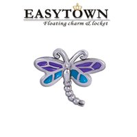 animal charms - Animal floating charms DRAGONFLY CHARM for origami owl living locket and
