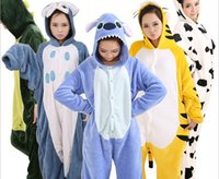 Wholesale 15 style One Piece Winter Coral Fleece Cosplay Anime Costume Pajamas Kawaii Baby Clothes Foot Pyjamas S M L XL Drop shipping