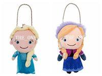 Cheap Frozen ice queen plush toy doll Frozen anna elsa plush cartoon wallet coin Frozen plush purse cartoon plush coin bag free shipping