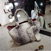 alligator skin handbags - 2015 leather bags crocodile snake skin women handbag fashion designer brand high quality shoulder bags ladies tote bag A70