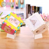 baby photo cube - Decoration Mercure six cube table photo photo lattice baby photo wall hanging type children