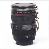 stainless steel mug - 60ml OZ Mini Stainless Steel Mug Cup Vodka Camera Lens Spirits Portable Thermos Cup M133 Mug