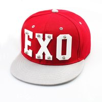 Wholesale 2014 EXO Street Fashion Hip hop hat Unisex Street Dance Cap flat brimmed hat Korean Stylish Stingy Brim Hats