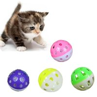 Wholesale 10pcs Plastic Colorful Jingle Bell Balls Dog Pet Cat Action Play Chasing Ball Toys Supplies Chew Puppy Kitten Care Product